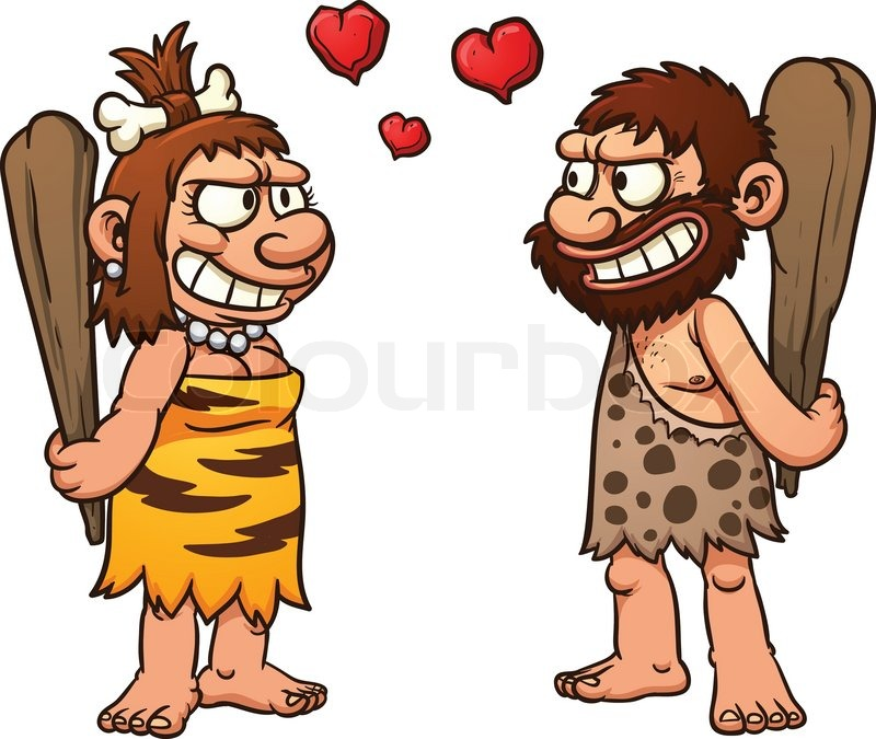 6980026 prehistoric cartoon couple caveman