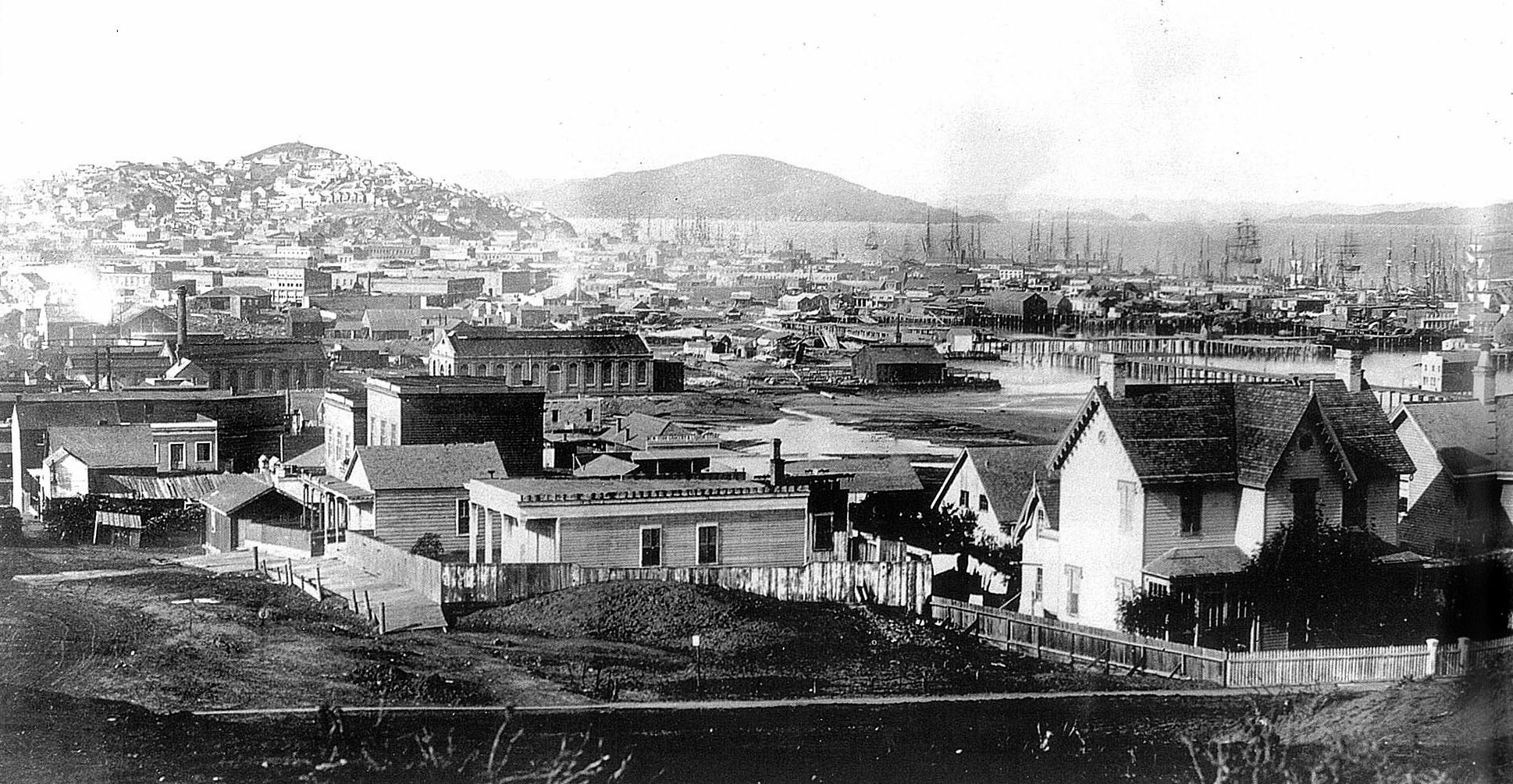 View from Rincon Point circa 1855 1860 Port City pg60 UPLOAD