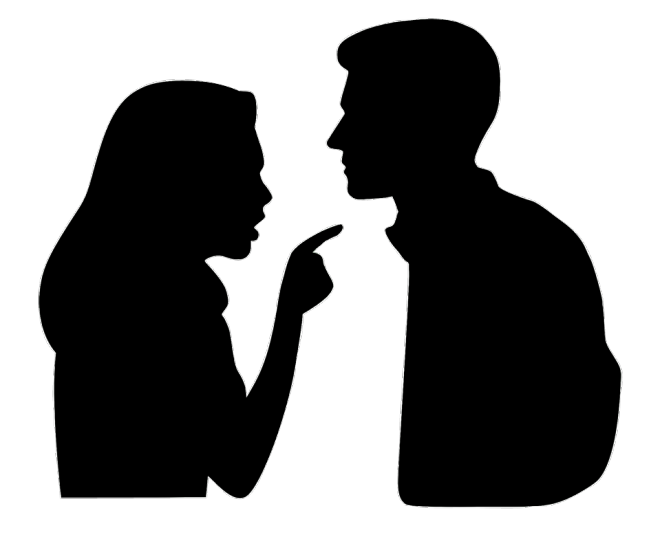couple arguing silhouette