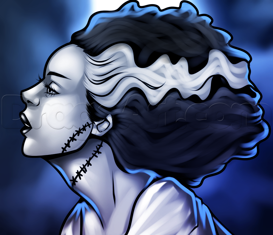 how to draw the bride of frankenstein 1 000000017590 5